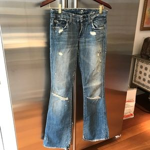 7 for All Mankind A Pocket Bell Bottoms 24